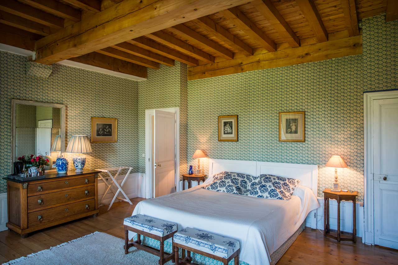 The blue bedroom la r serve for Amalric la chambre bleue
